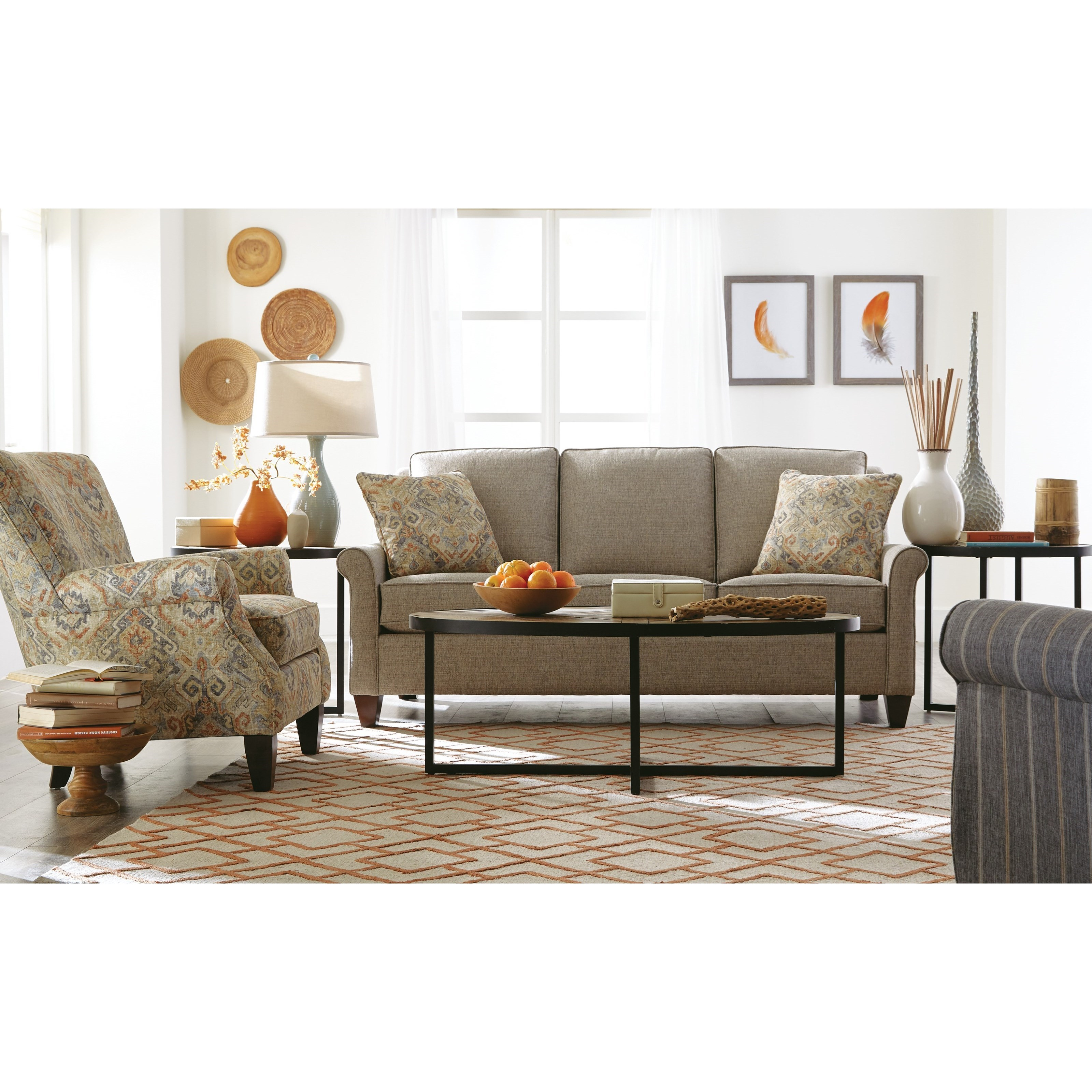 Ashley Furniture Slc: Casual 79 Inch Sofa With Queen Sleeper Mattress By
