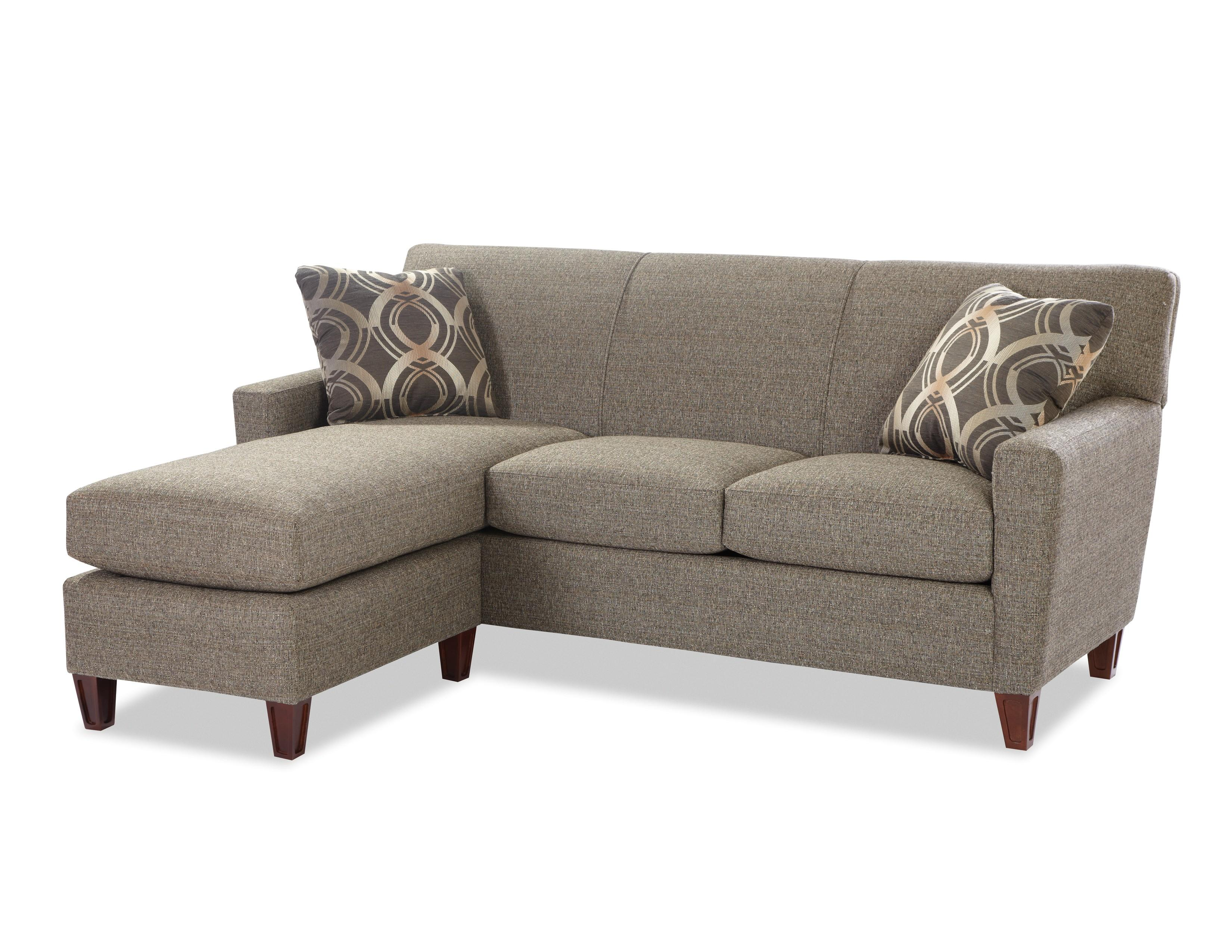 Contemporary Sofa With Chaise By Craftmaster Wolf And