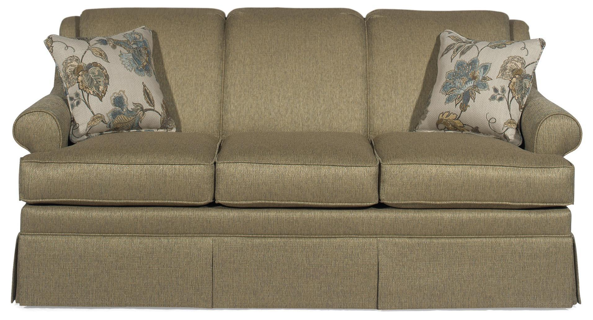 traditional sleeper sofa sectional traditional sleeper sofa with rolled arms and skirt by craftmaster