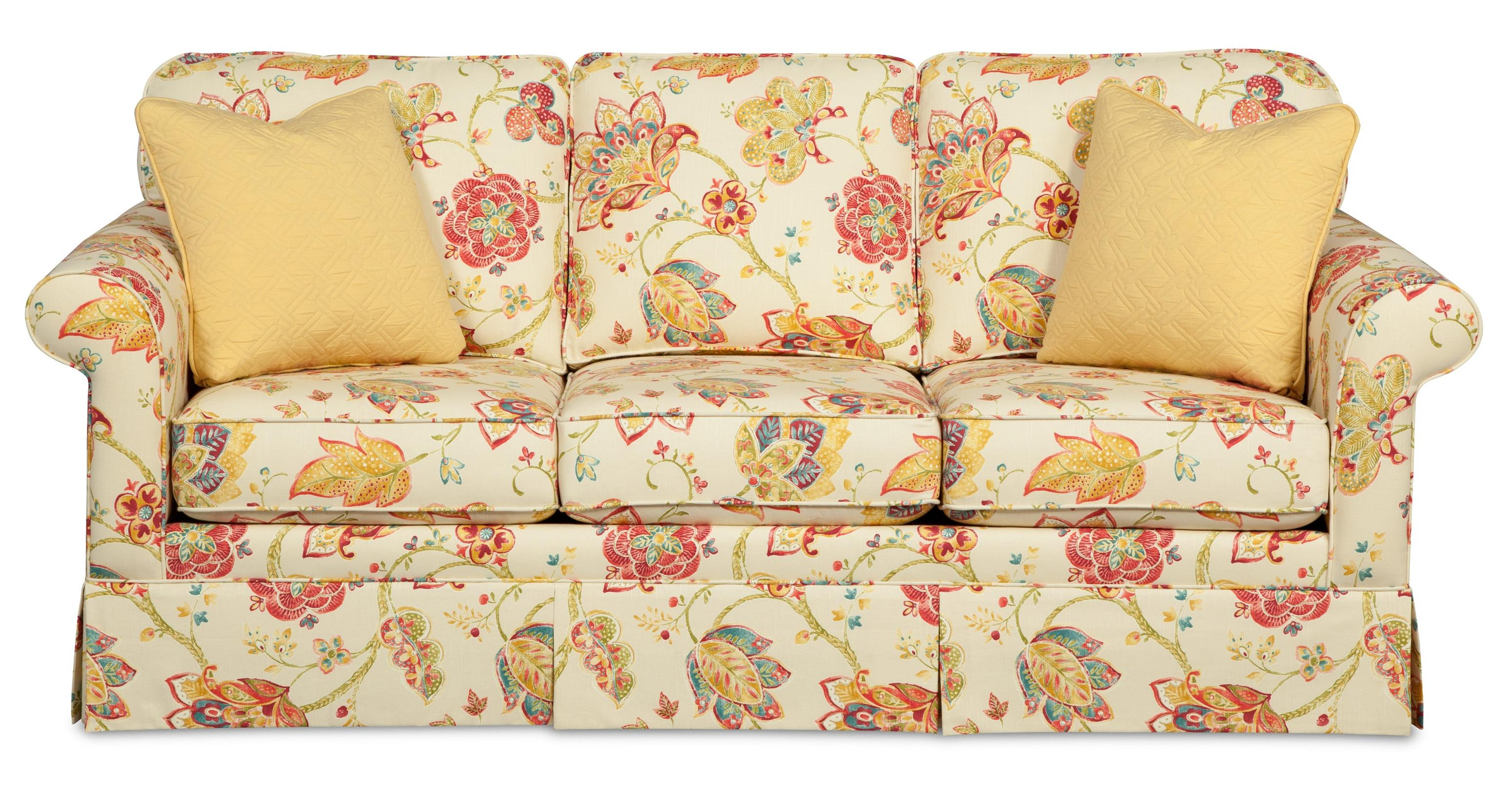 Traditional Sofa With Kick Pleat Skirt