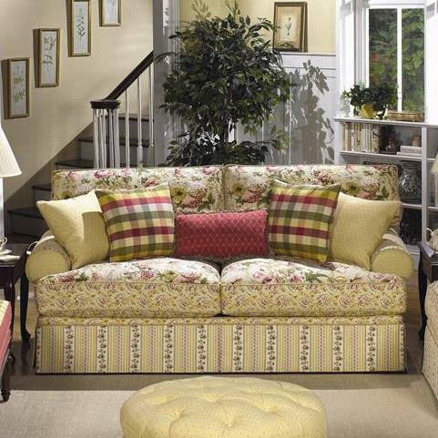 Skirted Stationary Sofa by Craftmaster | Wolf and Gardiner Wolf ...