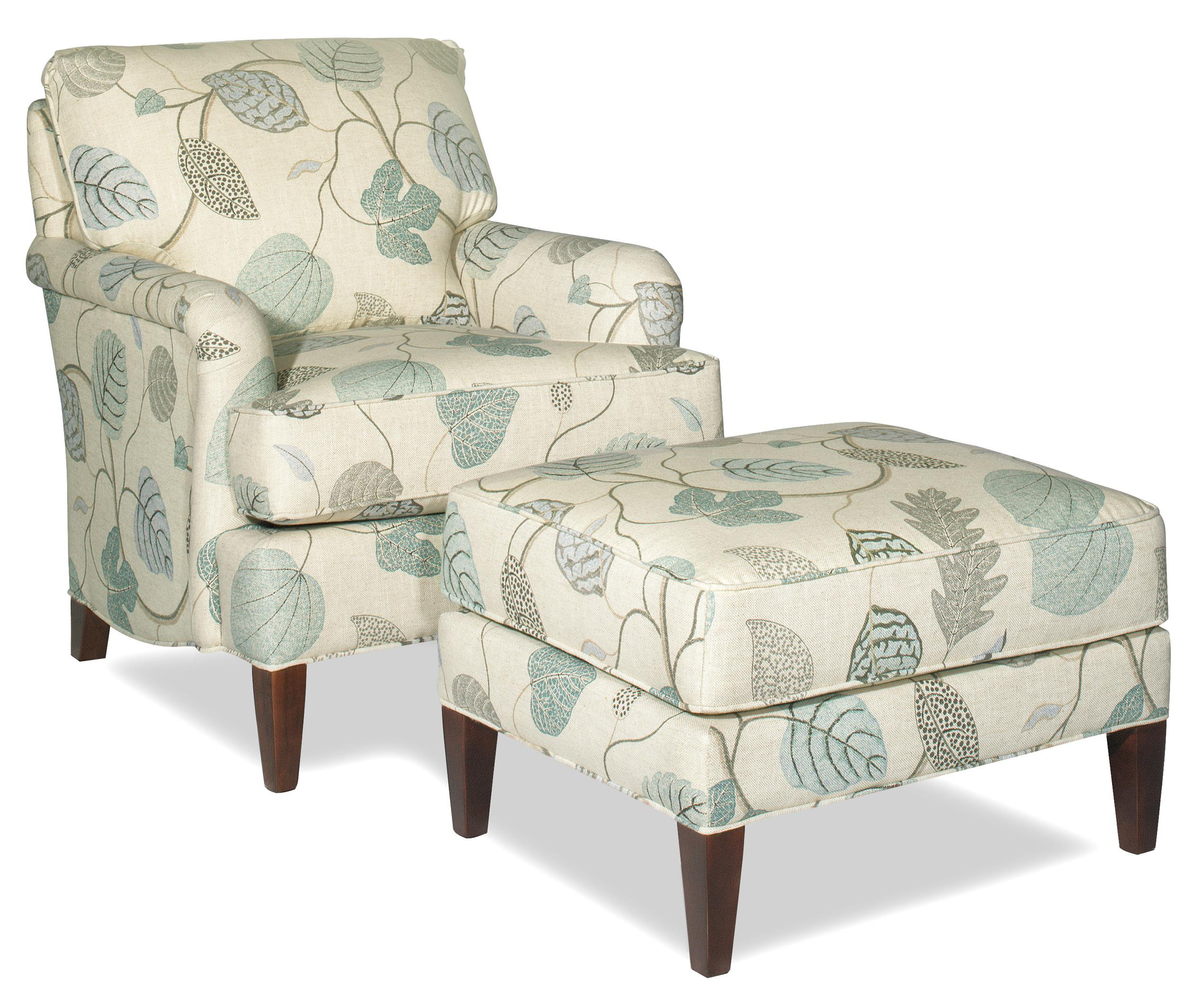 Transitional Chair And Ottoman Set By Craftmaster Wolf