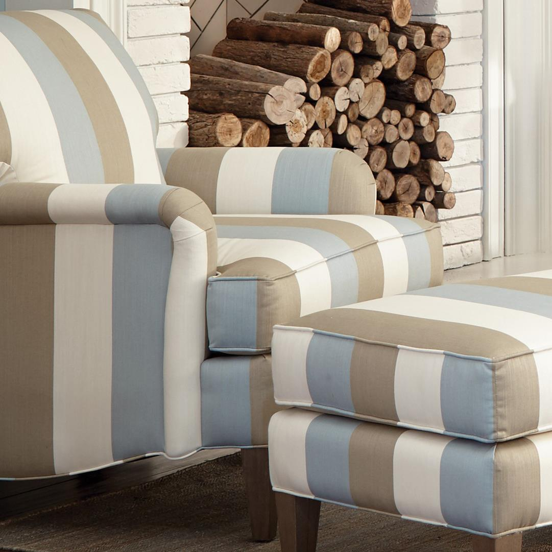 Transitional Accent Chair With English Arms