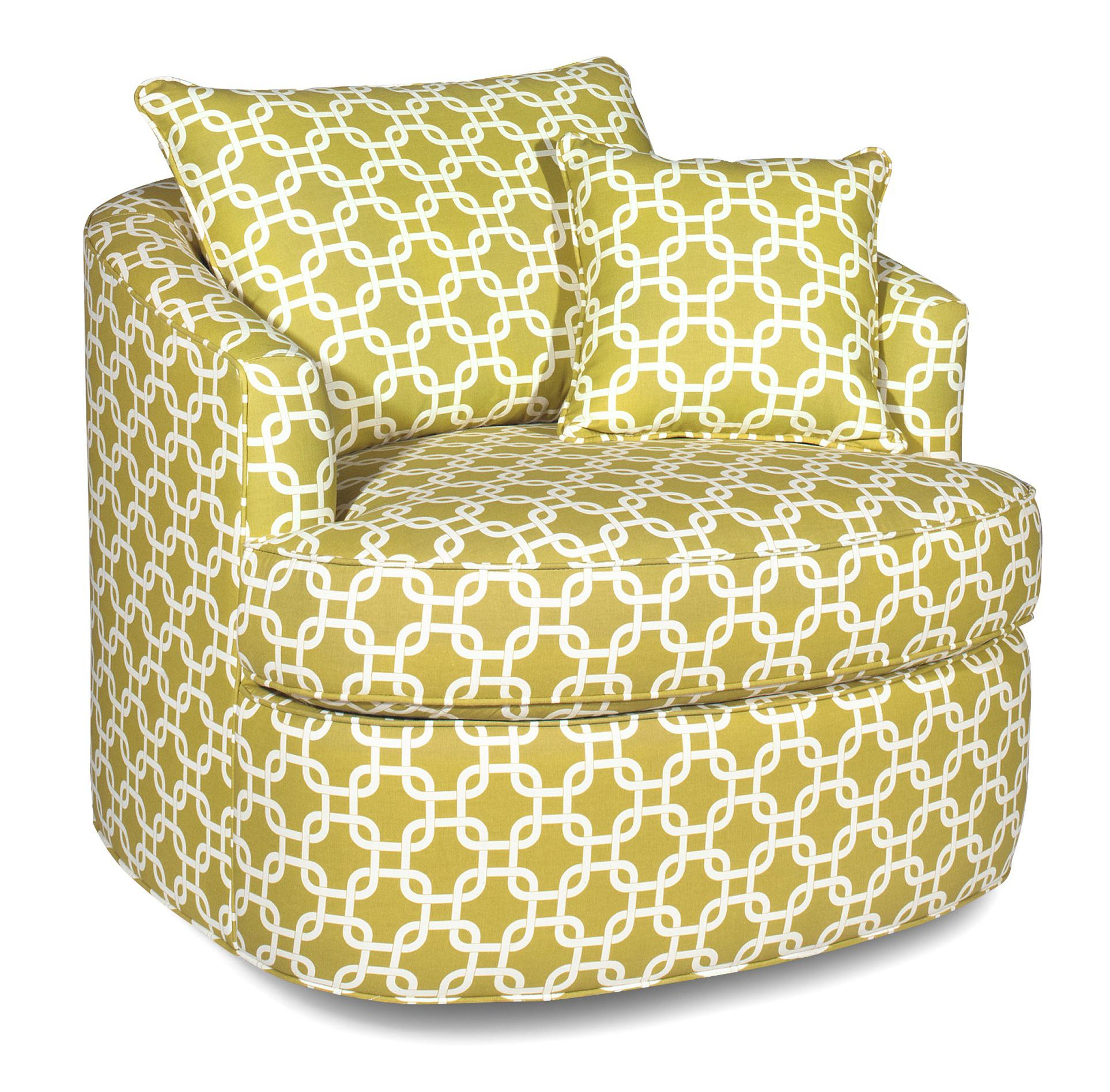 Accent chair contemporary - Contemporary Swivel Chair With Loose Pillow Back