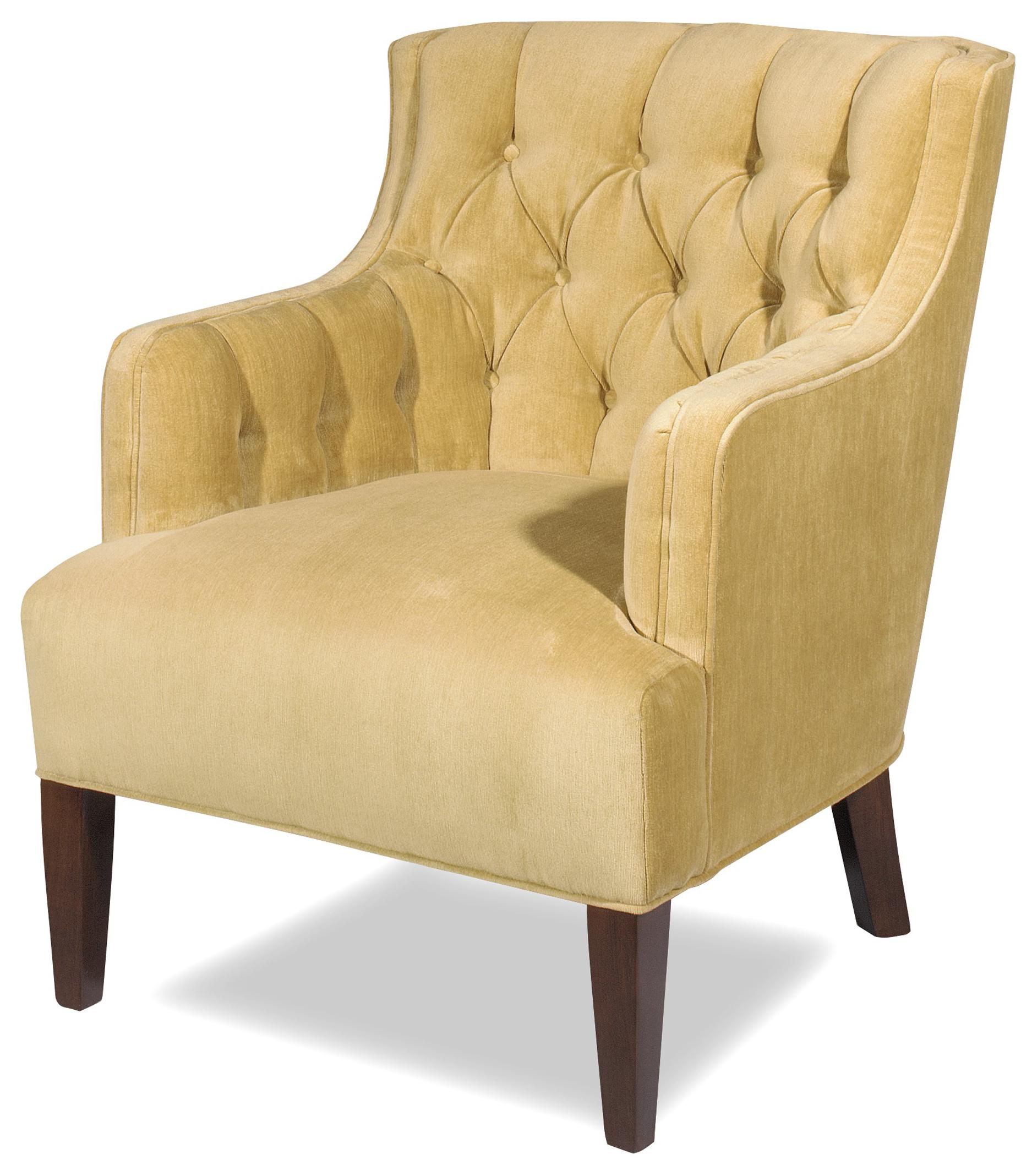 Charmant Transitional Wing Chair With Button Tufted Back