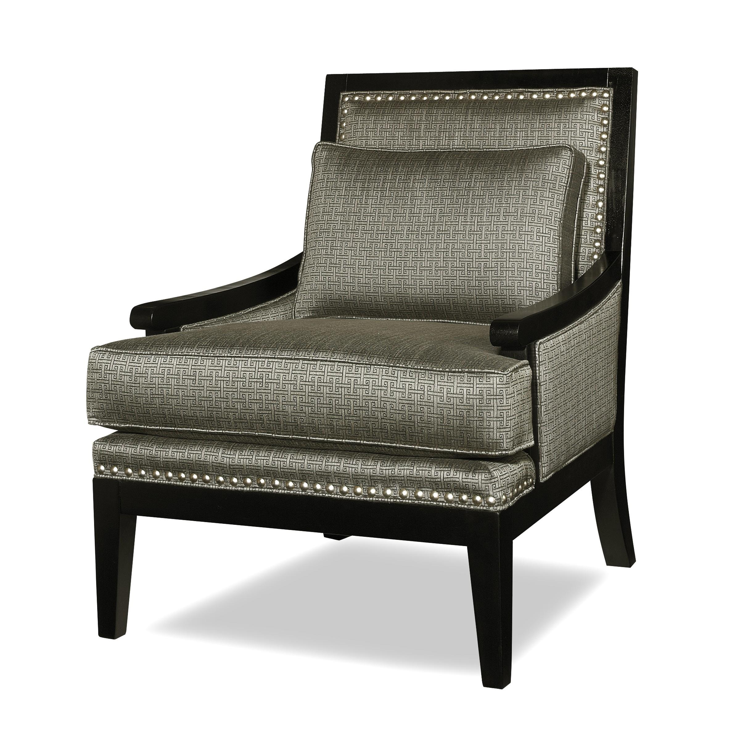 Contemporary Exposed Wood Accent Chair By Craftmaster