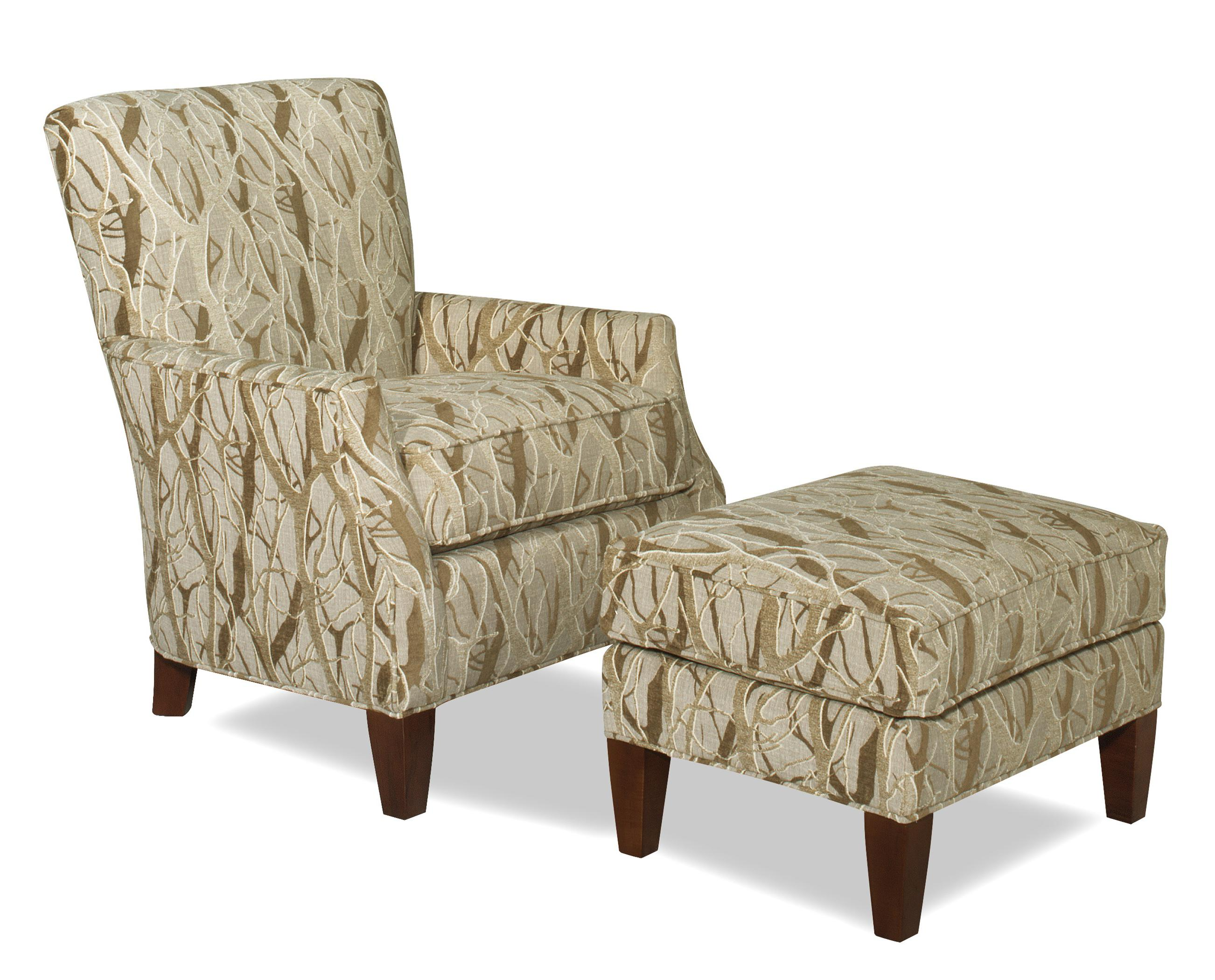 Contemporary Chair and Ottoman Set by Craftmaster