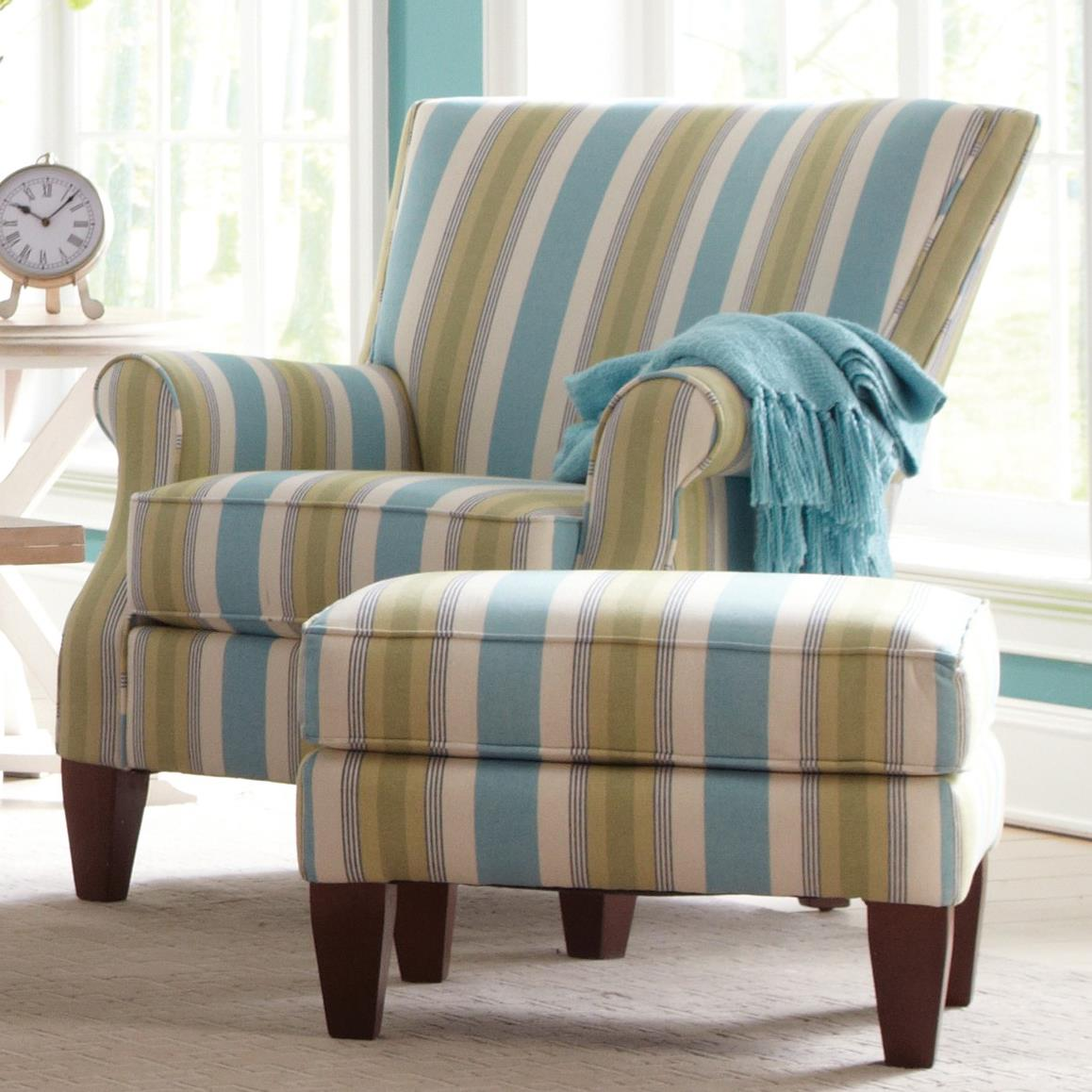 Contempory Chairs: Contemporary Chair And Ottoman Set By Craftmaster