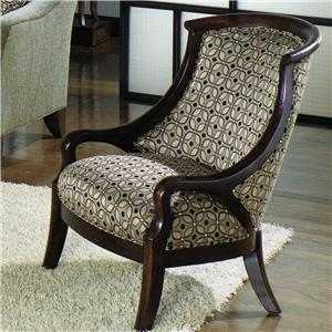 Craftmaster Accent Chairs Contemporary Barrel Back Exposed Wood Chair