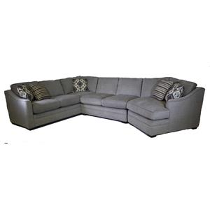 Craftmaster F9 Custom Collection 3 pc sectional with cuddler end