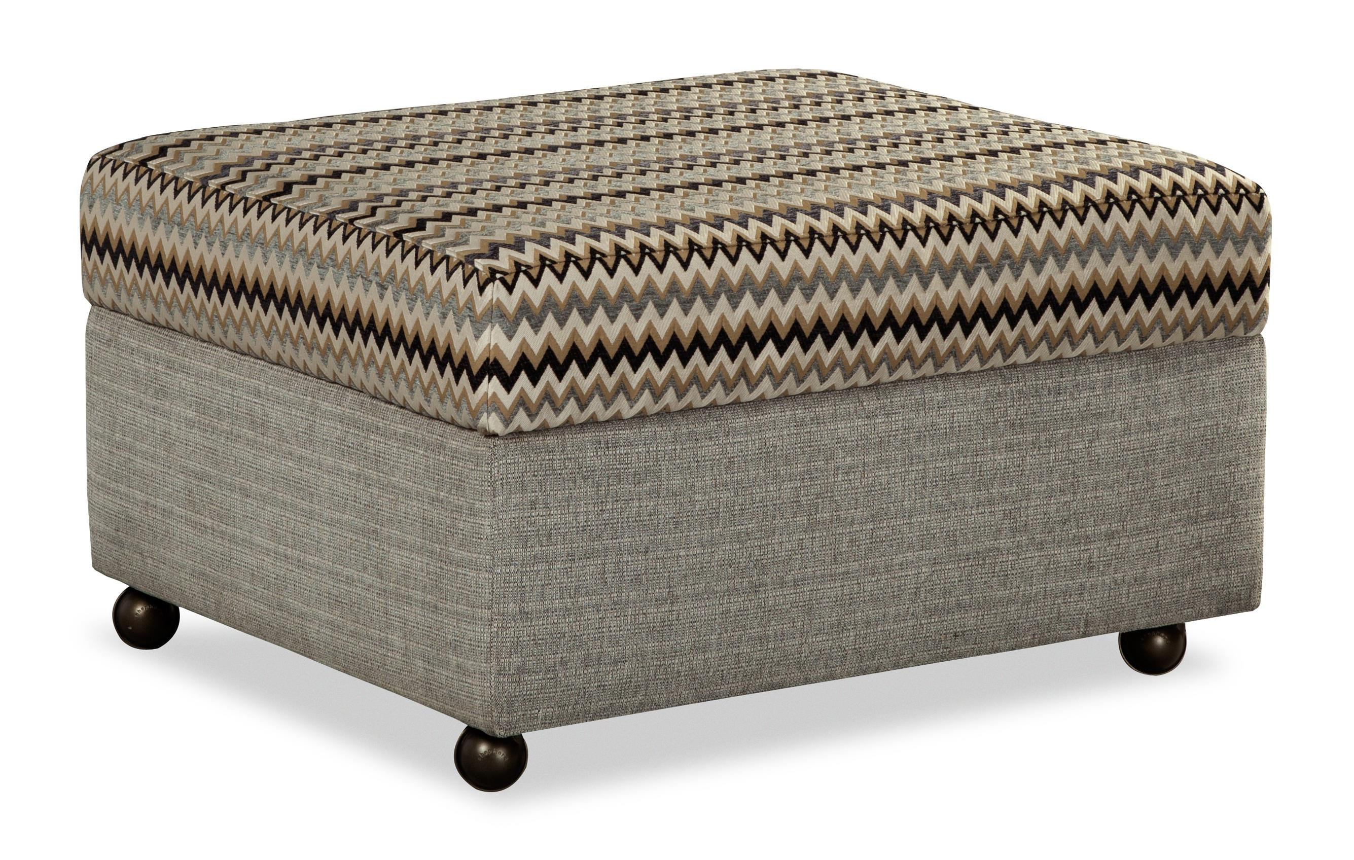 Charming Customizable Lift Top Storage Ottoman With Casters