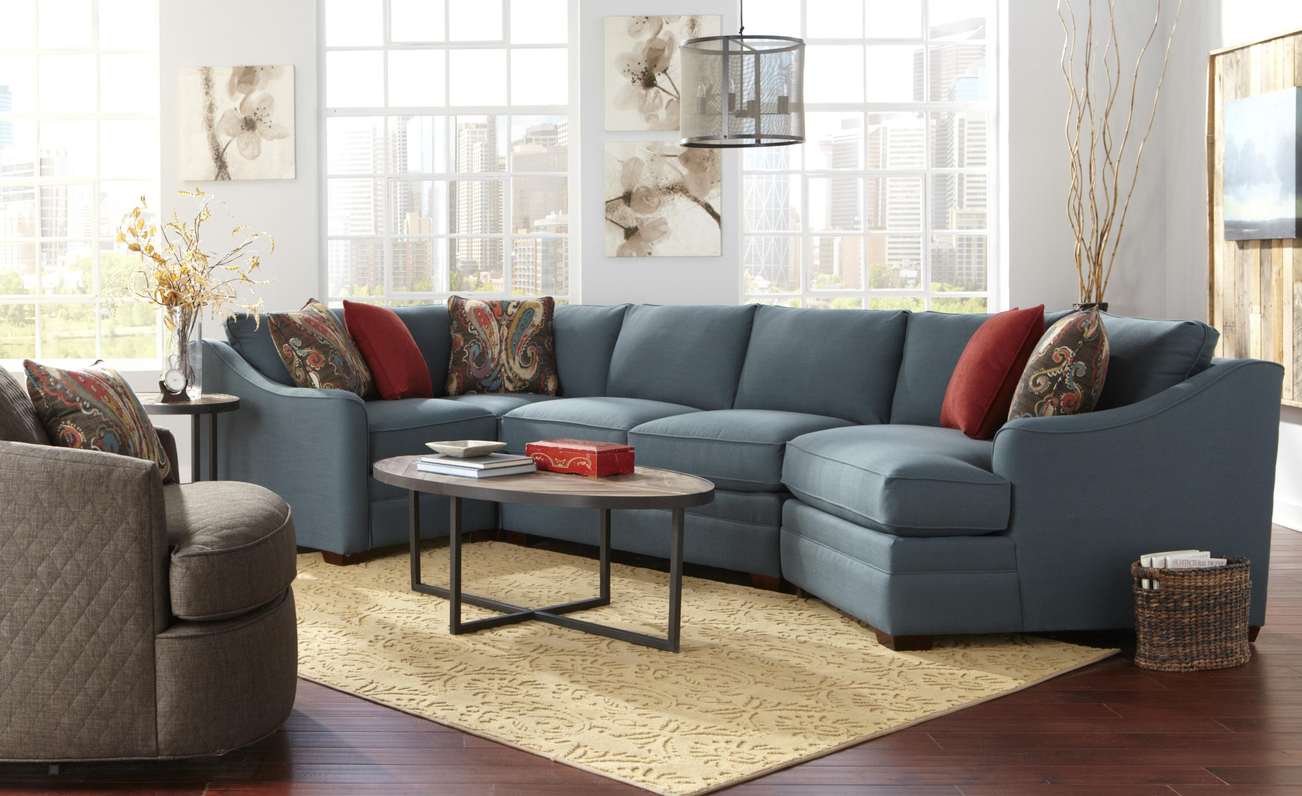 Four Piece B Customizable B Sectional Sofa With Raf Cuddler By  ~ Sectional Sofa With Cuddler