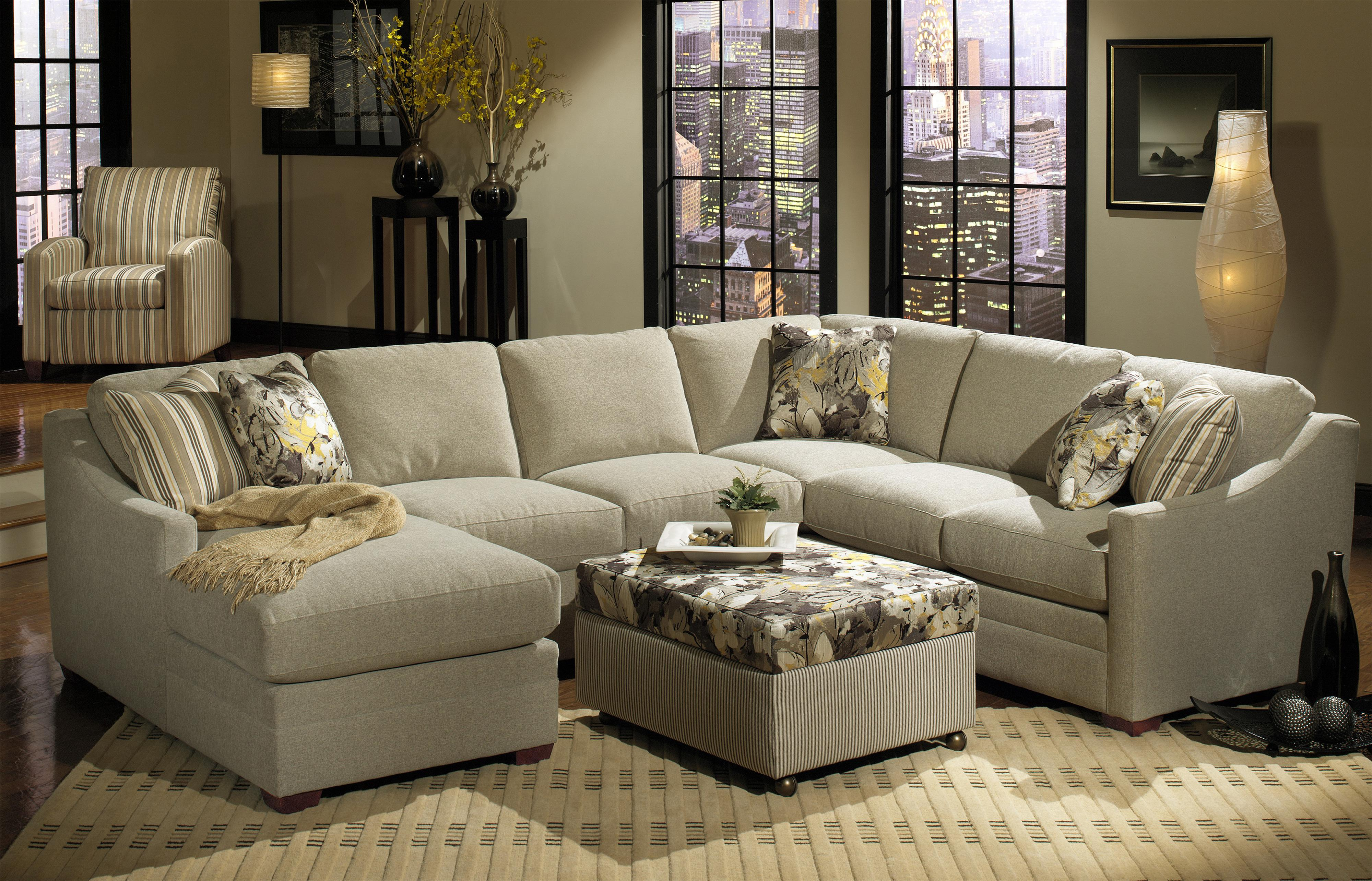 Customizable 3 Piece Sectional With Raf Sofa W Return By Craftmaster Wolf And Gardiner Wolf Furniture
