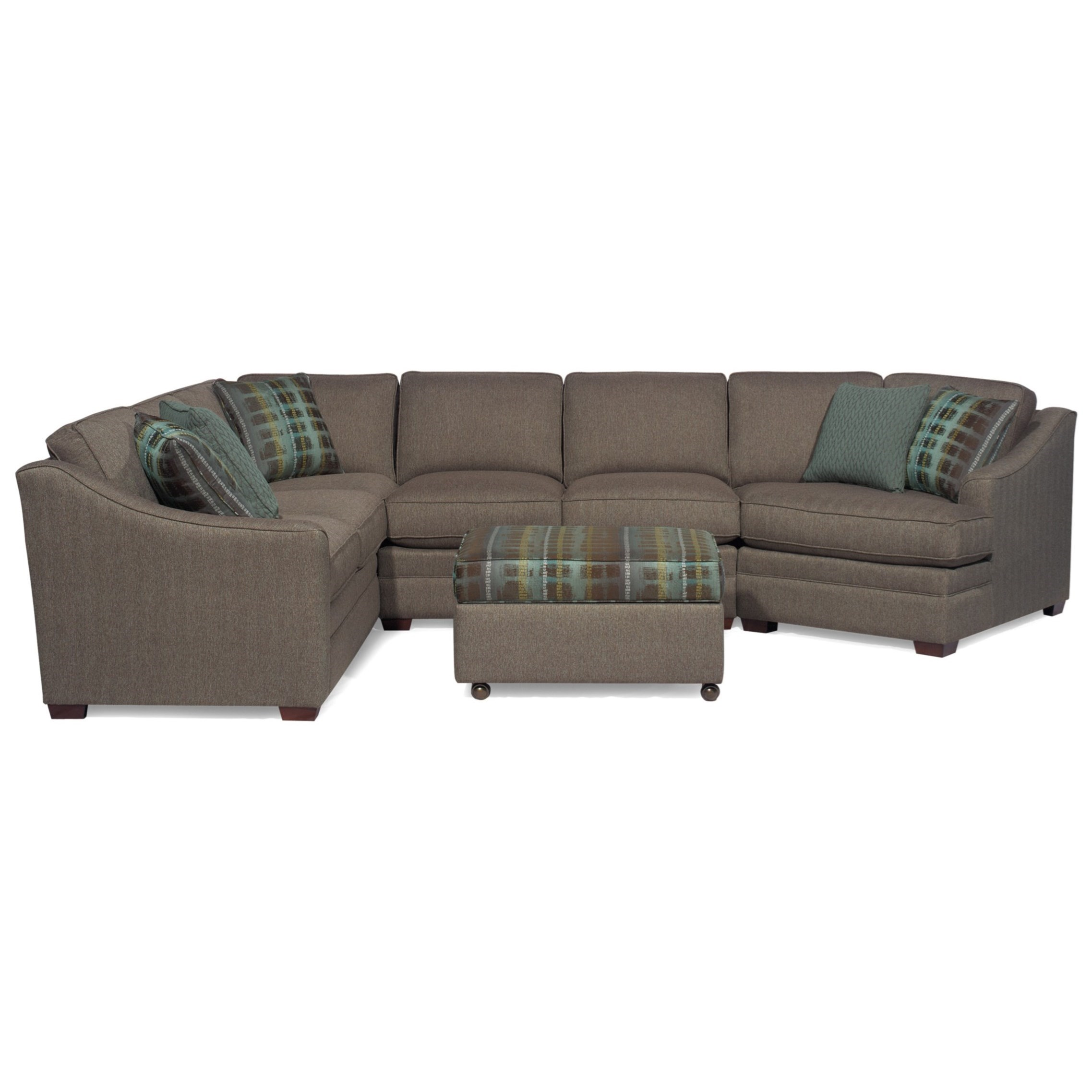 Customizable 3 Piece Sectional With RAF Cuddler By
