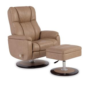Craftmaster L0472 Reclining Chair and Ottoman Set
