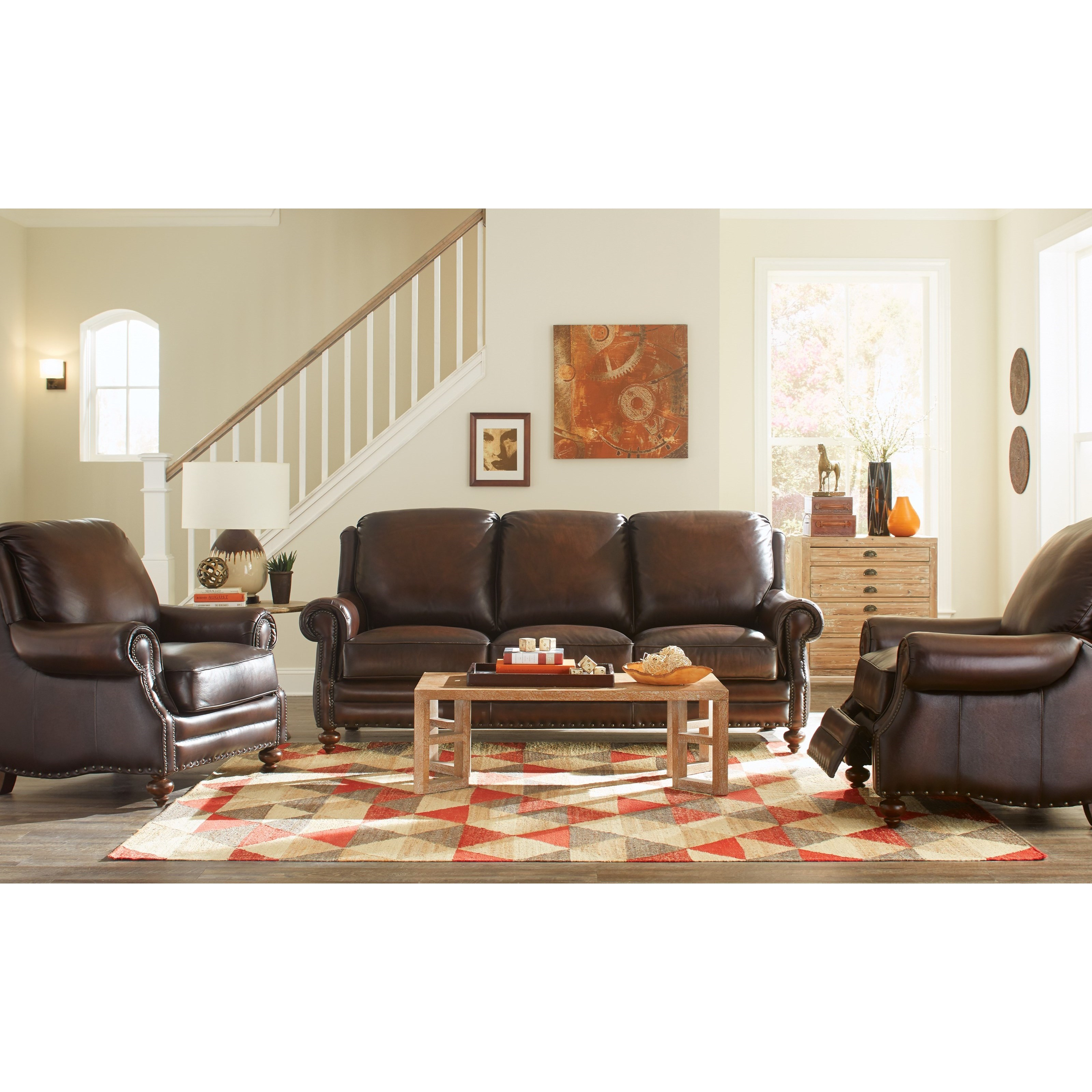 Tremendous Craftmaster Leather Living Room Group By Craftmaster Wolf Alphanode Cool Chair Designs And Ideas Alphanodeonline