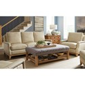 Craftmaster L172550 Transitional Nailhead-Studded Sofa with Exposed Base Rail