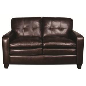 Morris Home Furnishings Preston Preston 100% Leather Loveseat