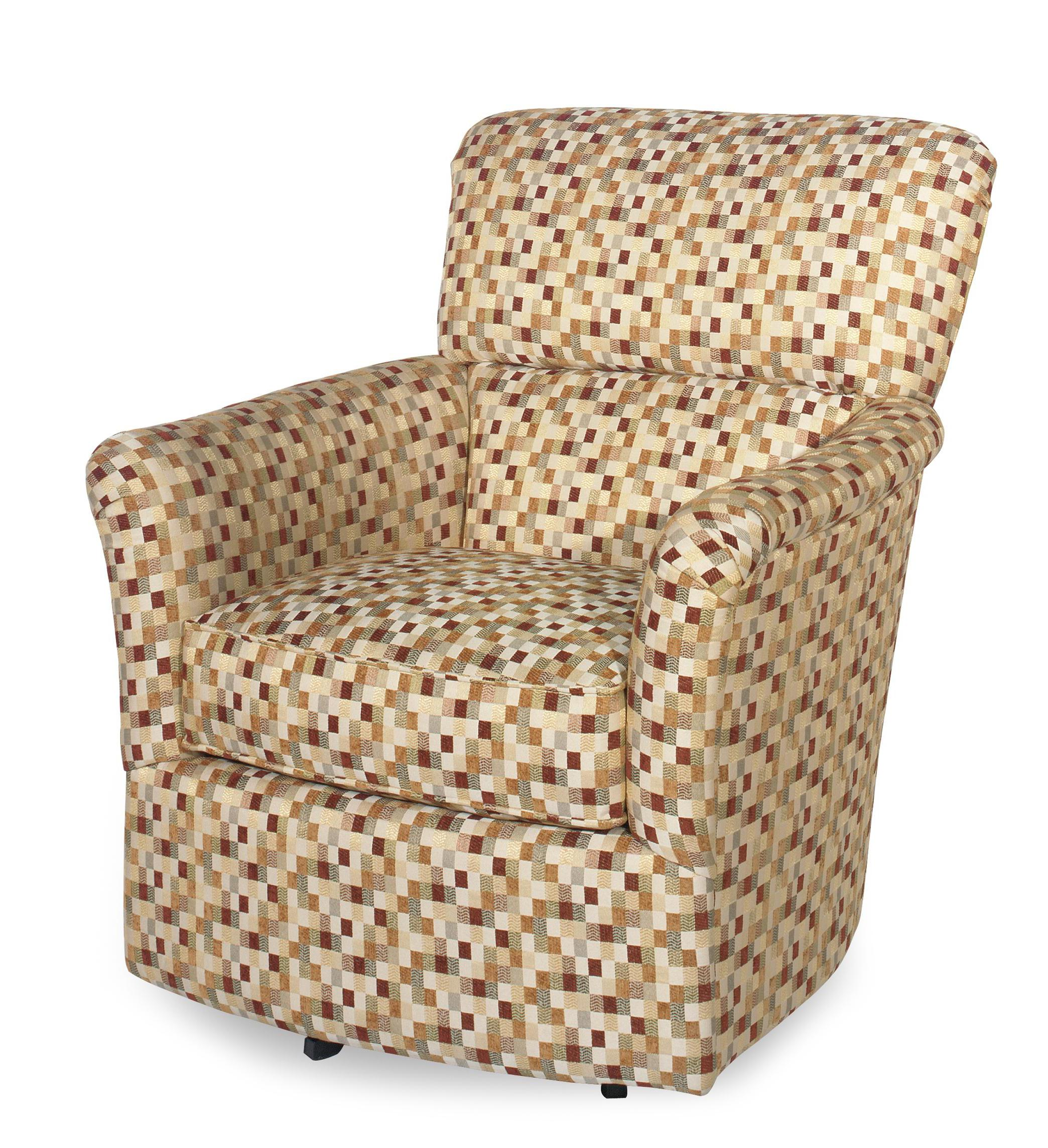 Contemporary Upholstered Swivel Glider Chair With Flair