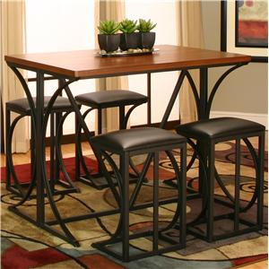 5 Piece Pub and Stool Set