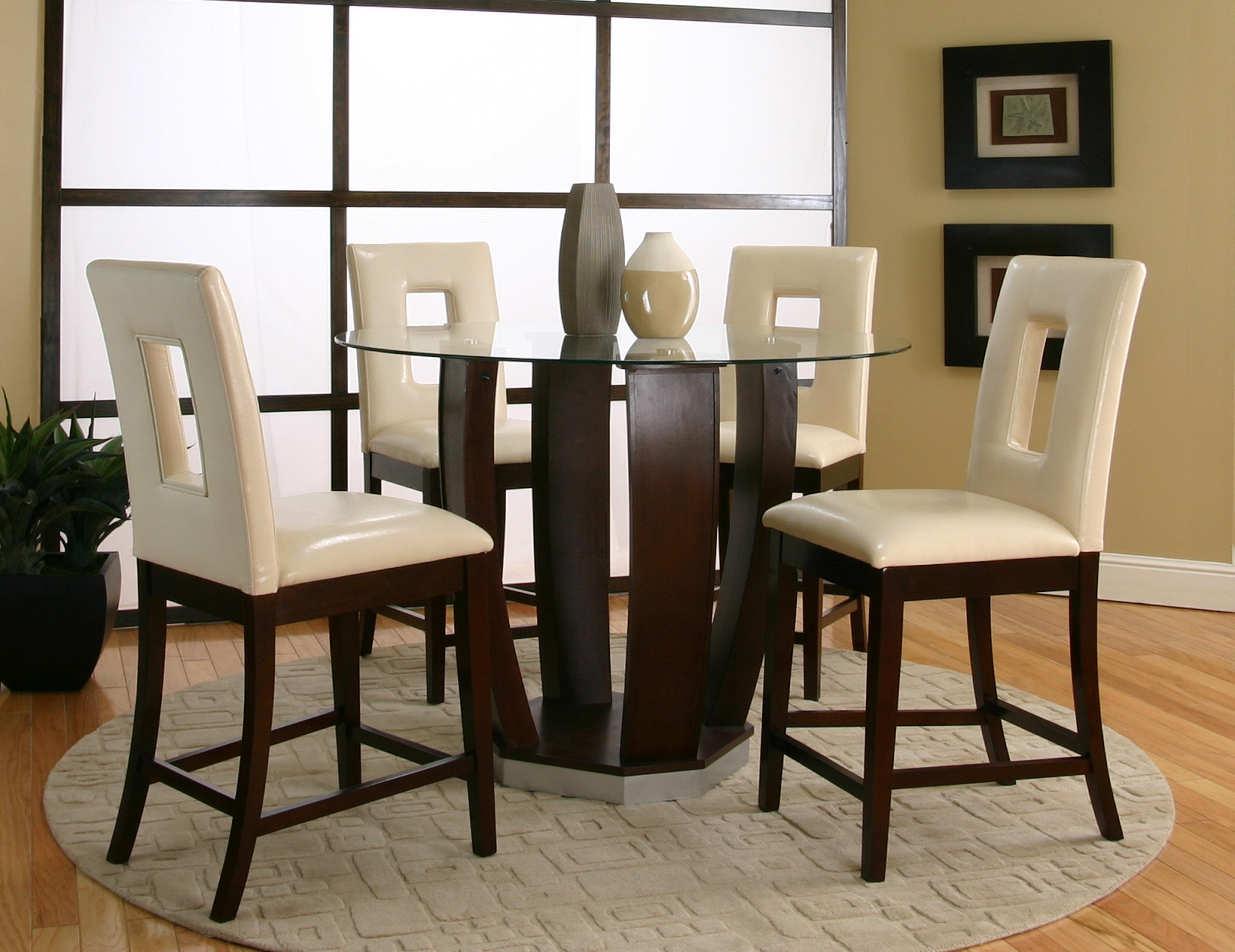 Tempered Glass Top Pub Table Set : pub dining room table sets - pezcame.com