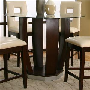 round tempered glass pub table