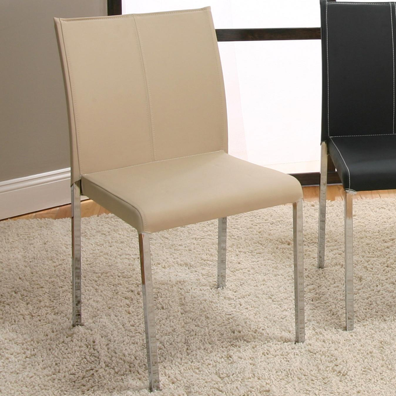 Chrome stack chair w upholstery by cramco inc wolf and