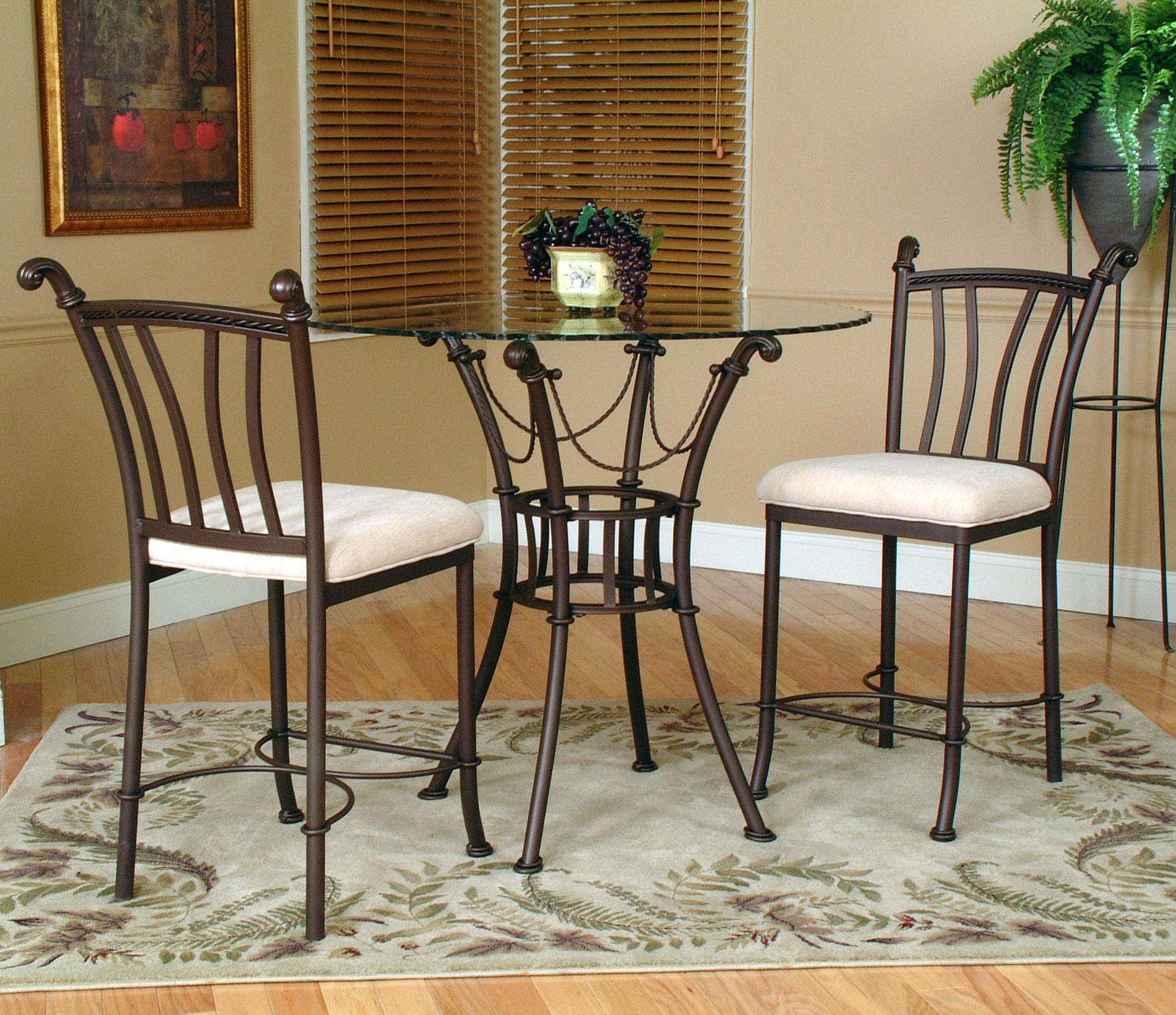 3 Piece Counter Height Glass Table And Chair