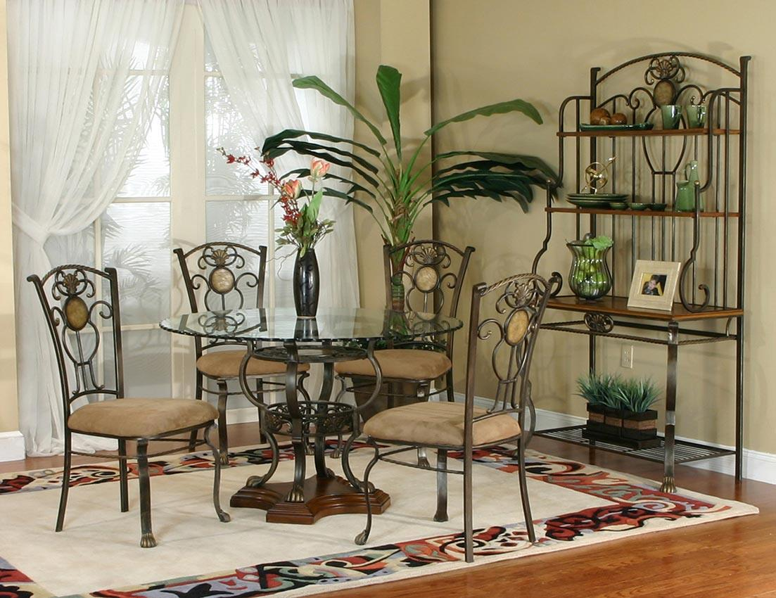 sophisticated metal dining room set pictures 3d house designs 4 shelf baker s rack by cramco inc wolf and gardiner wolf furniture
