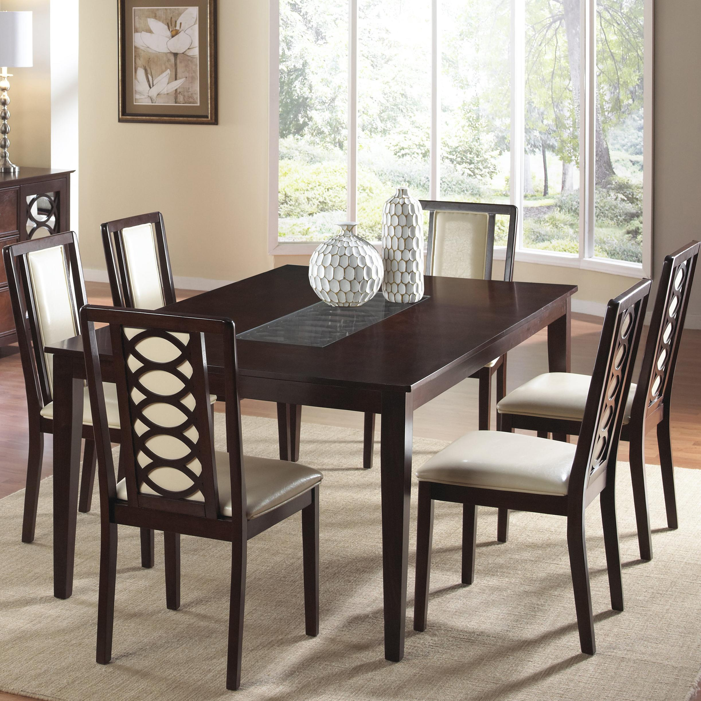 7 Piece Dining Set ~ Piece dining table and chair set by cramco inc wolf