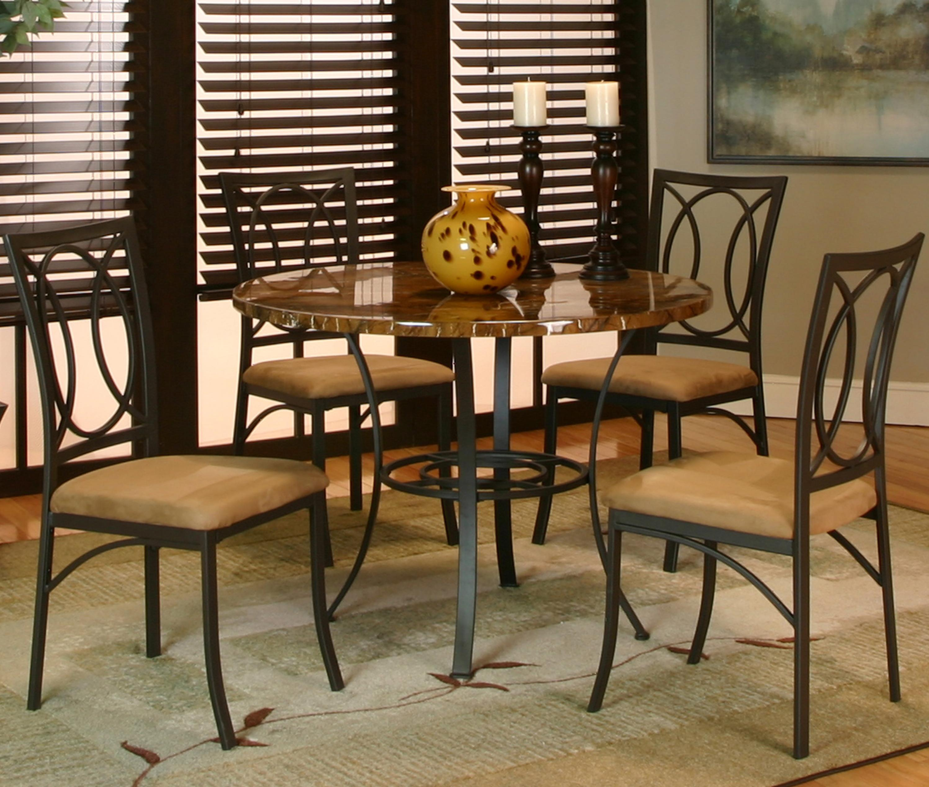 5 piece faux marble table top by cramco inc wolf and gardine