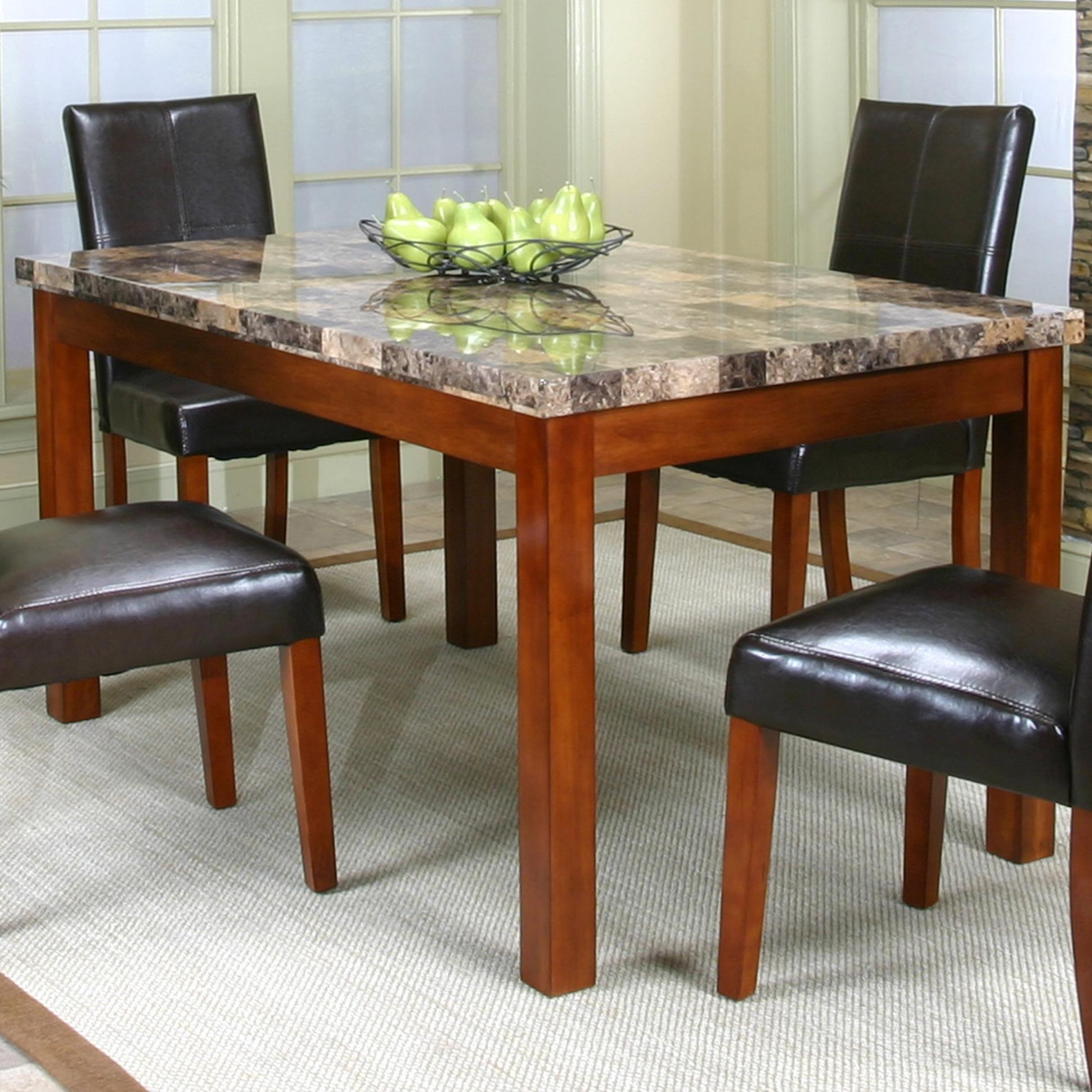 Rectangular Casual Table W Faux Marble Top By Cramco Inc Wolf And Gardiner Wolf Furniture