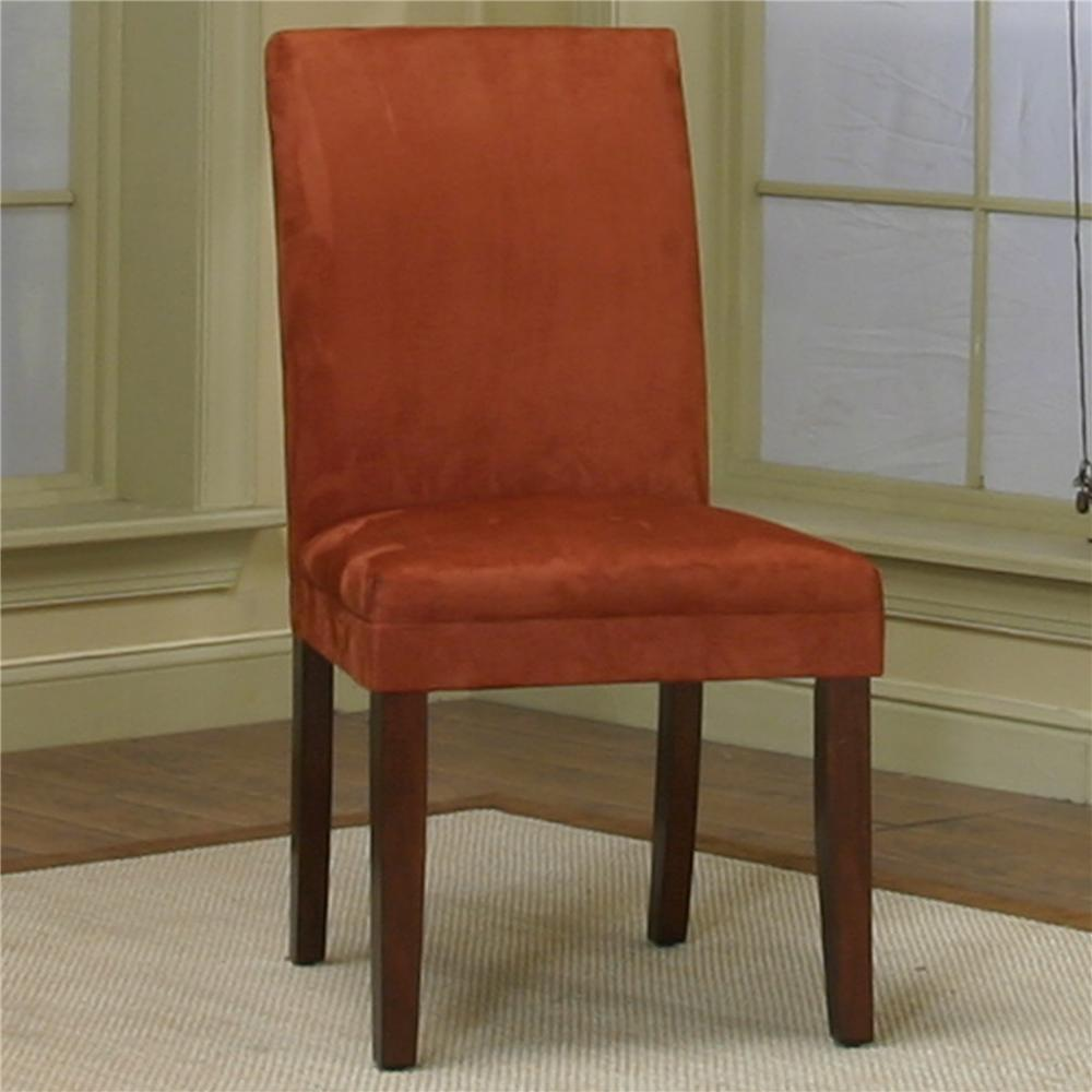 Exceptional Dining Side Chair With Brick Micro Suede Fabric