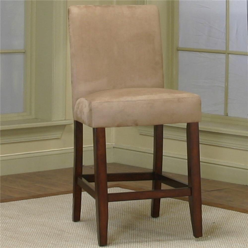 counter height dining chair with stone microsuede fabric