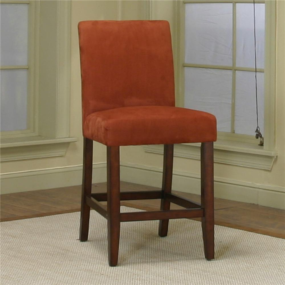 Marvelous Counter Height Dining Chair With Brick Micro Suede Fabric