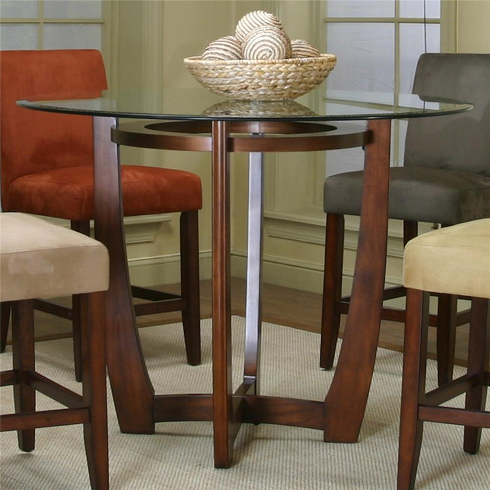 counter height dining table with cherry wood basecramco, inc