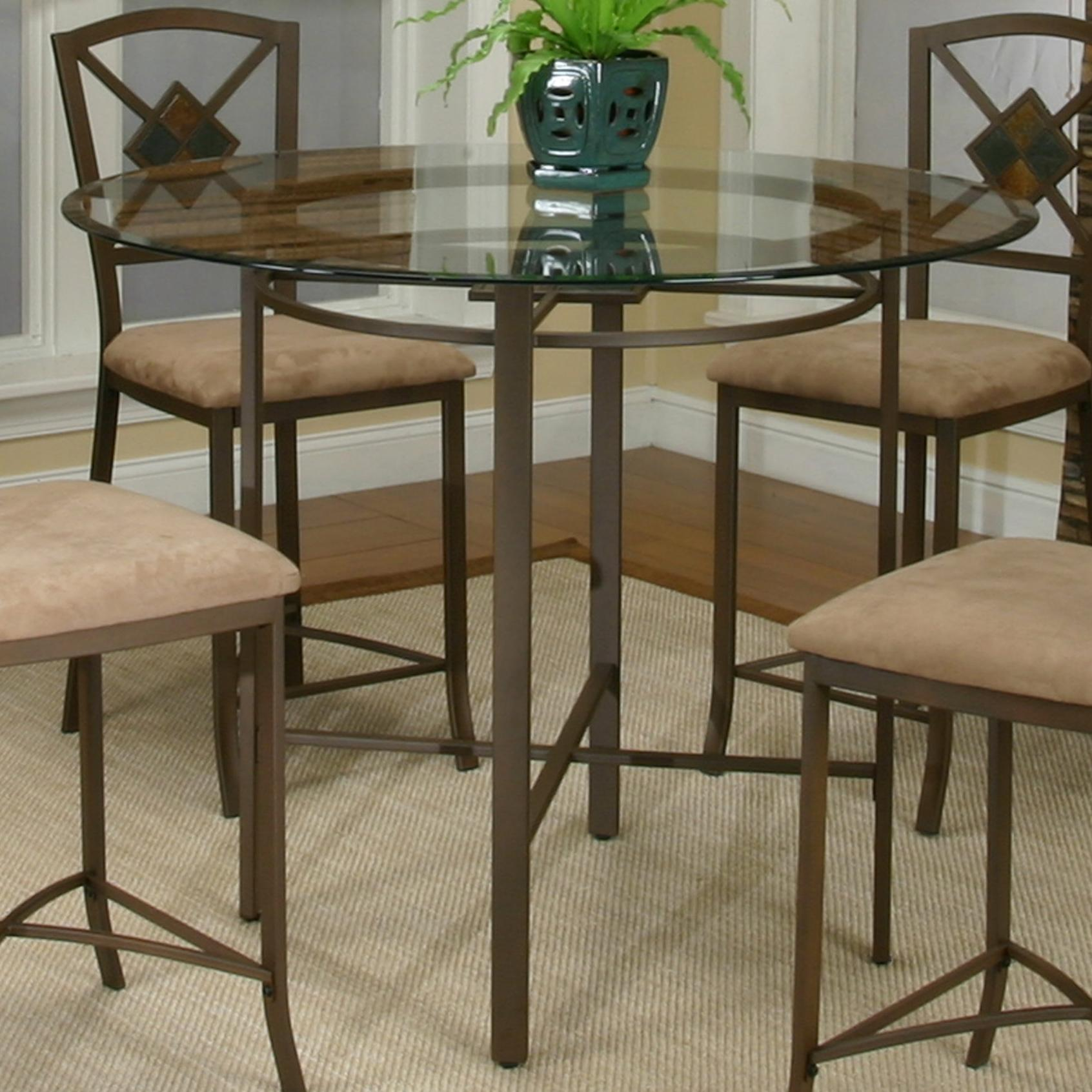 Exceptional Glass Pub Table Part - 5: Metal Pub Table W/ Glass Top