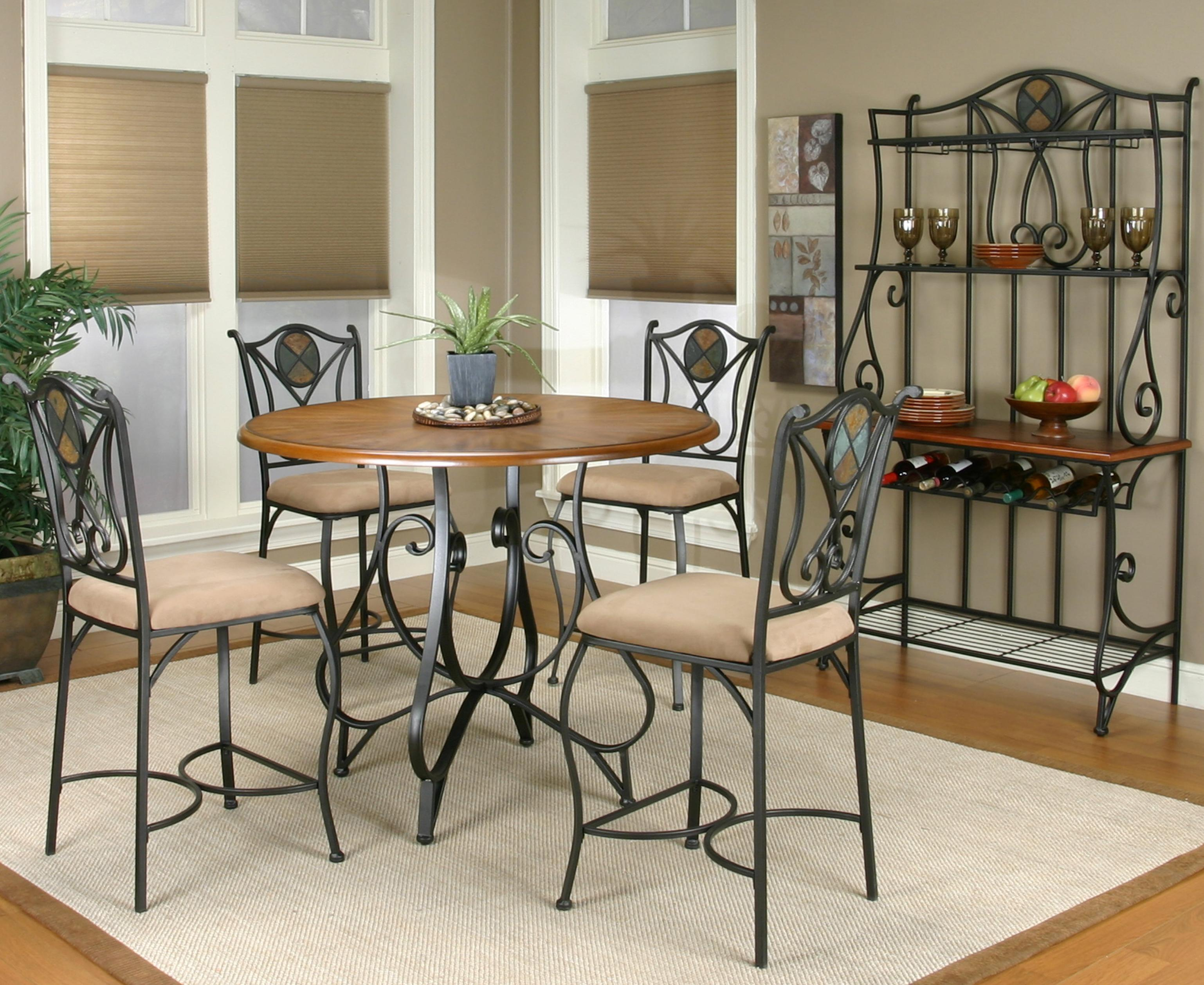 Counter Height And Stool Set