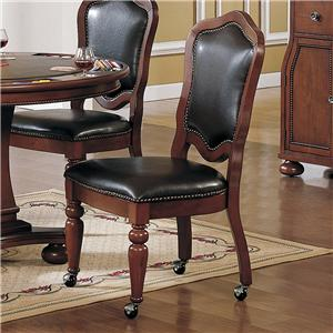 Delightful Dining Chair With Casters