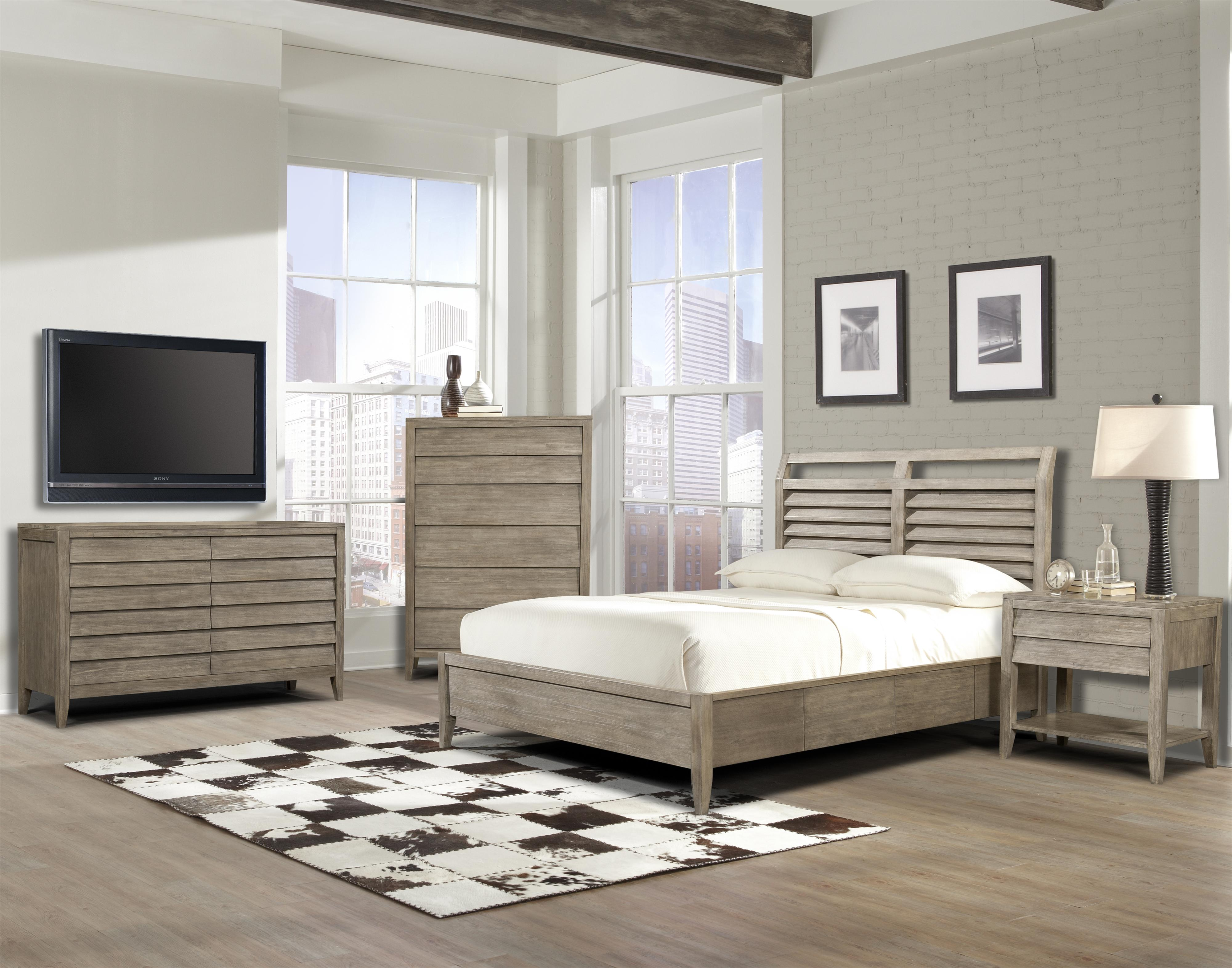 Louvered Bedroom Furniture Queen Low Profile Louvered Panel Bed By Cresent Fine Furniture