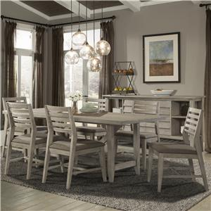 Cresent Fine Furniture Corliss Landing 7 PC Table & Chair Set