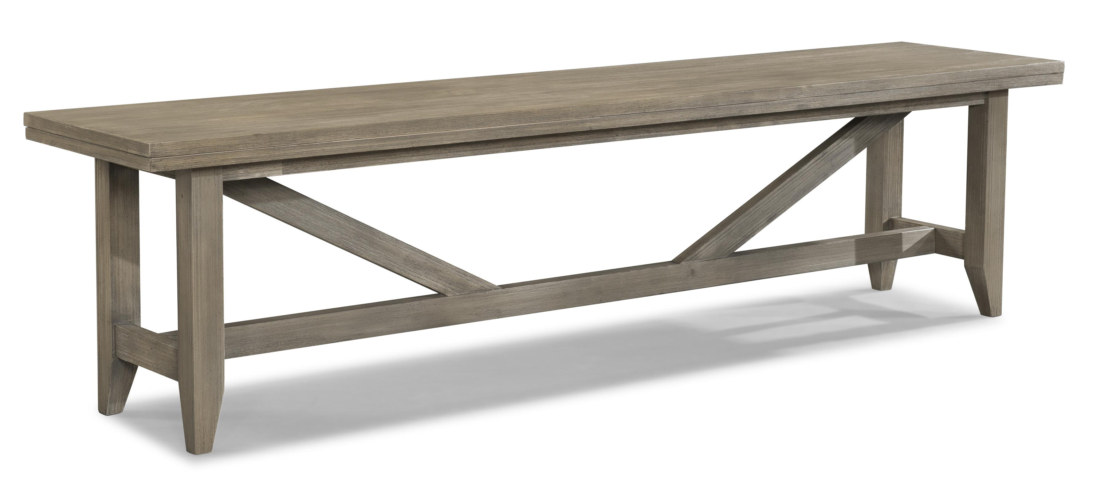 Long Weathered Dining Bench By Cresent Fine Furniture Wolf And Gardiner Wolf Furniture