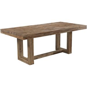 modern rectangular dining table with rustic trestle base contemporary furniture