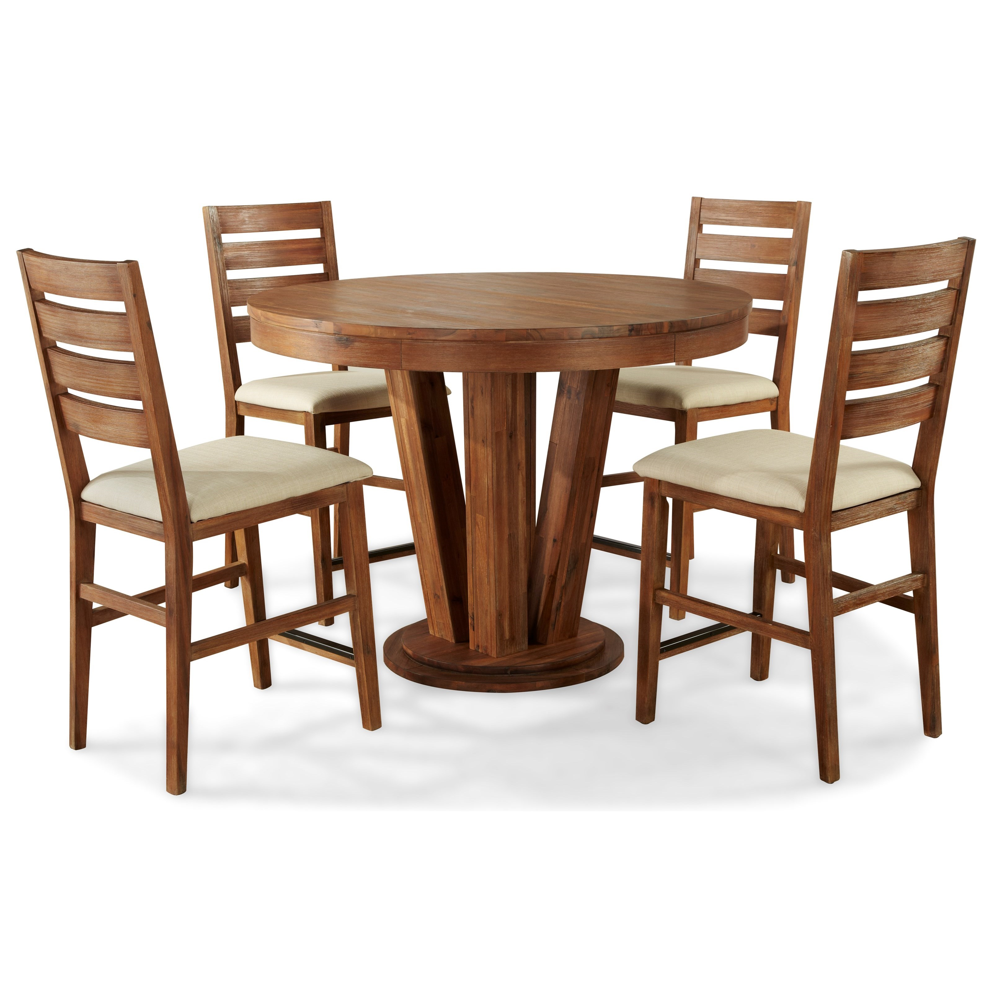 By Cresent Fine Furniture. 5 Piece Counter Height Table And Chair Set