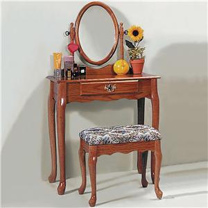 Crown Mark 2200 Vanity Table & Stool