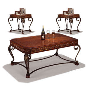 Crown Mark Clairmont 3 Piece Accent Table Group