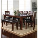 Crown Mark Bardstown Dining Table with 18