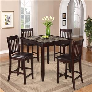 Crown Mark Cascade 5 Piece Counter Height Dinette