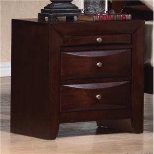 Crown Mark Emily 2-Drawer Nightstand