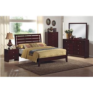 Crown Mark Evan 4pc King Bedroom